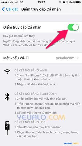 Cách phát Wifi trên điện thoại iPhone 5