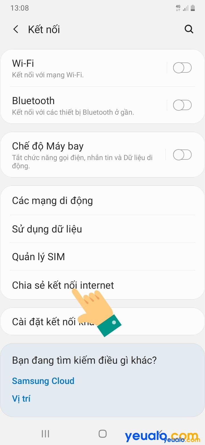 Cách phát Wifi từ Samsung 3