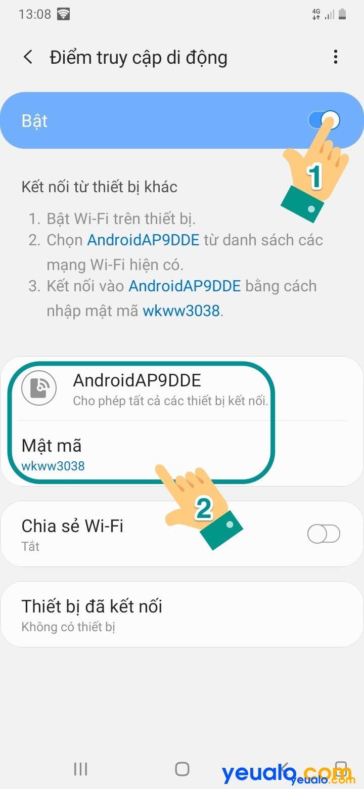 Cách phát Wifi từ Samsung 5