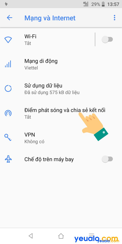 Cách phát Wifi từ Vsmart 3