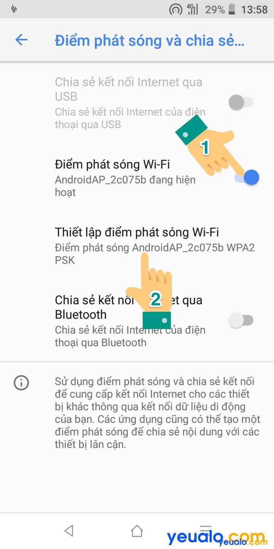 Cách phát Wifi từ Vsmart 4