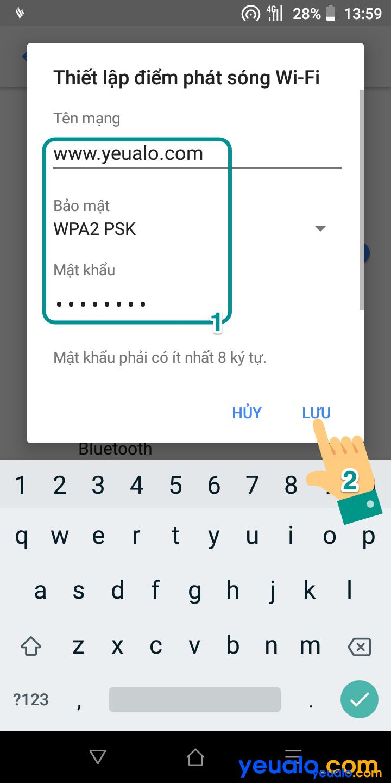 Cách phát Wifi từ Vsmart 5