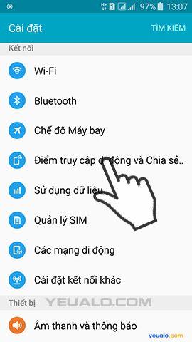 Hướng dẫn cách phát Wifi từ điện thoại Samsung Galaxy 3