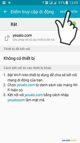 Hướng dẫn cách phát Wifi từ điện thoại Samsung Galaxy 6