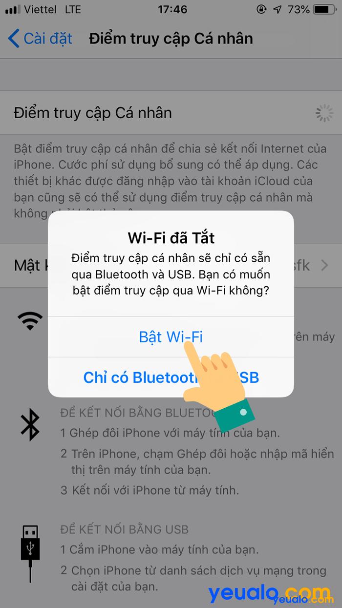 Cách phát Wifi từ iPhone Xs Max 4