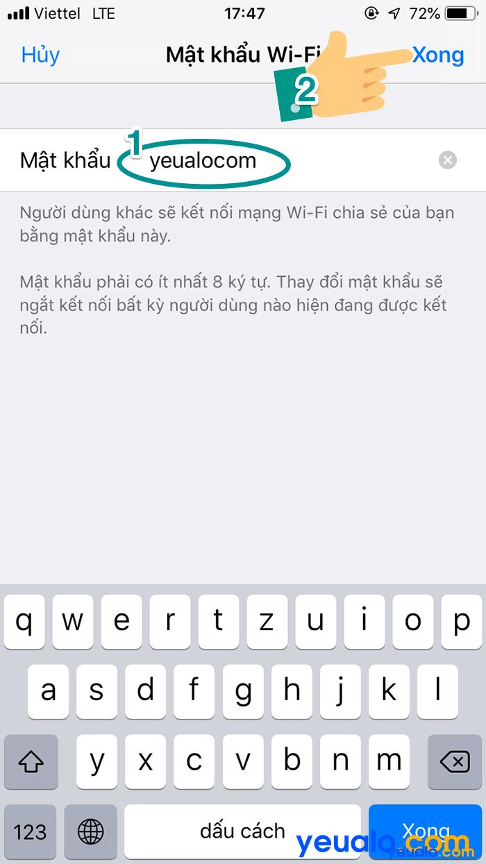 Cách phát Wifi từ iPhone Xs Max 6