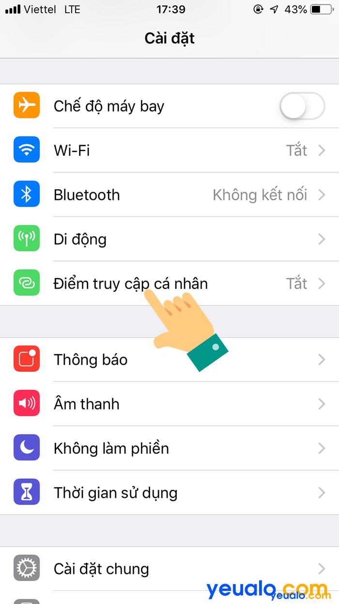 Cách phát Wifi từ iPhone 6 2