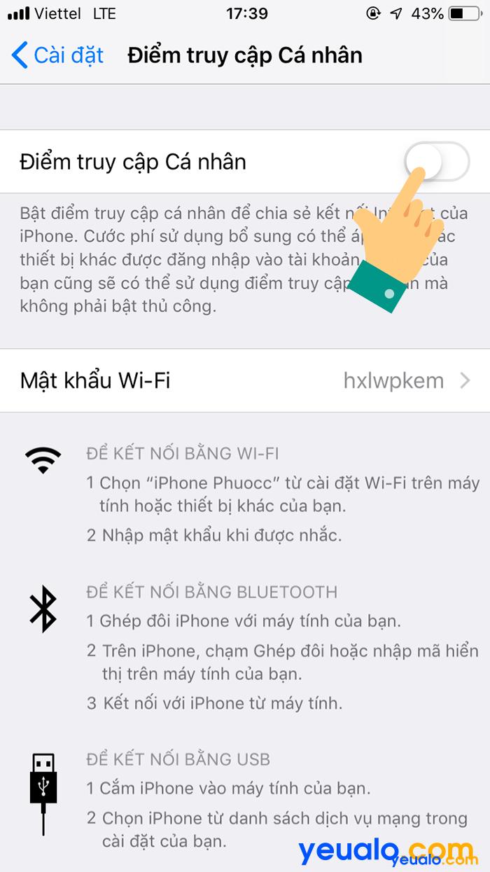 Cách phát Wifi từ iPhone 6 3