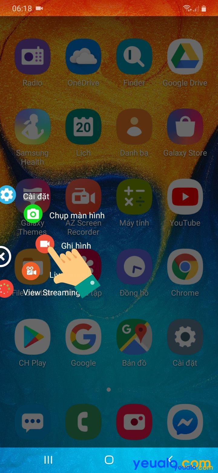 Cách quay màn hình Samsung A 2