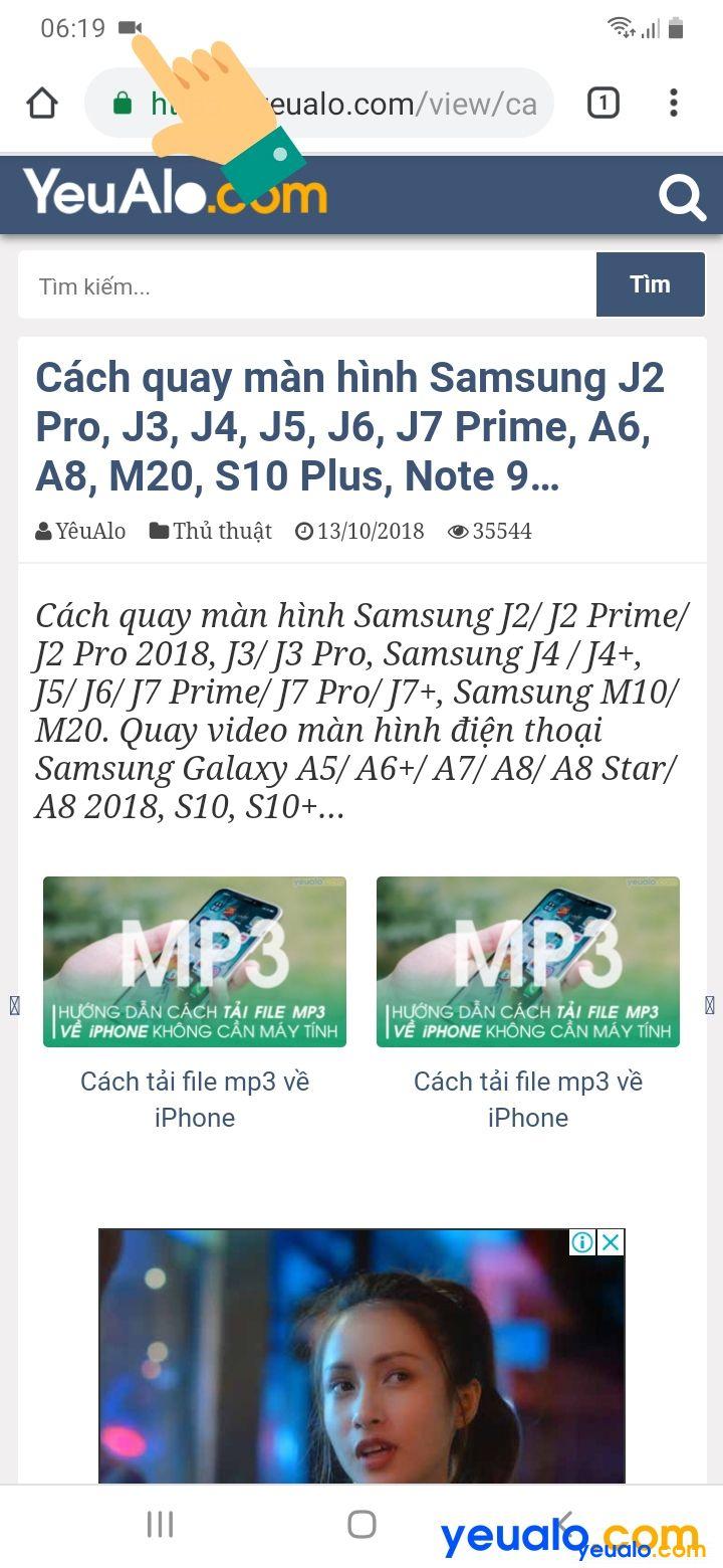 Cách quay màn hình Samsung A 4