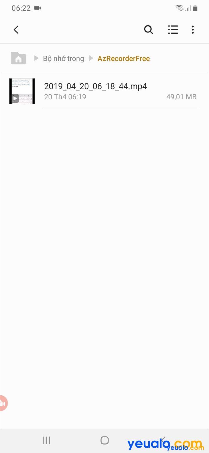 Cách quay màn hình Samsung A 7