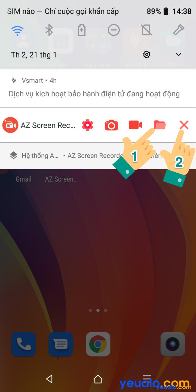 Cách quay video màn hình điện thoại Vsmart 6