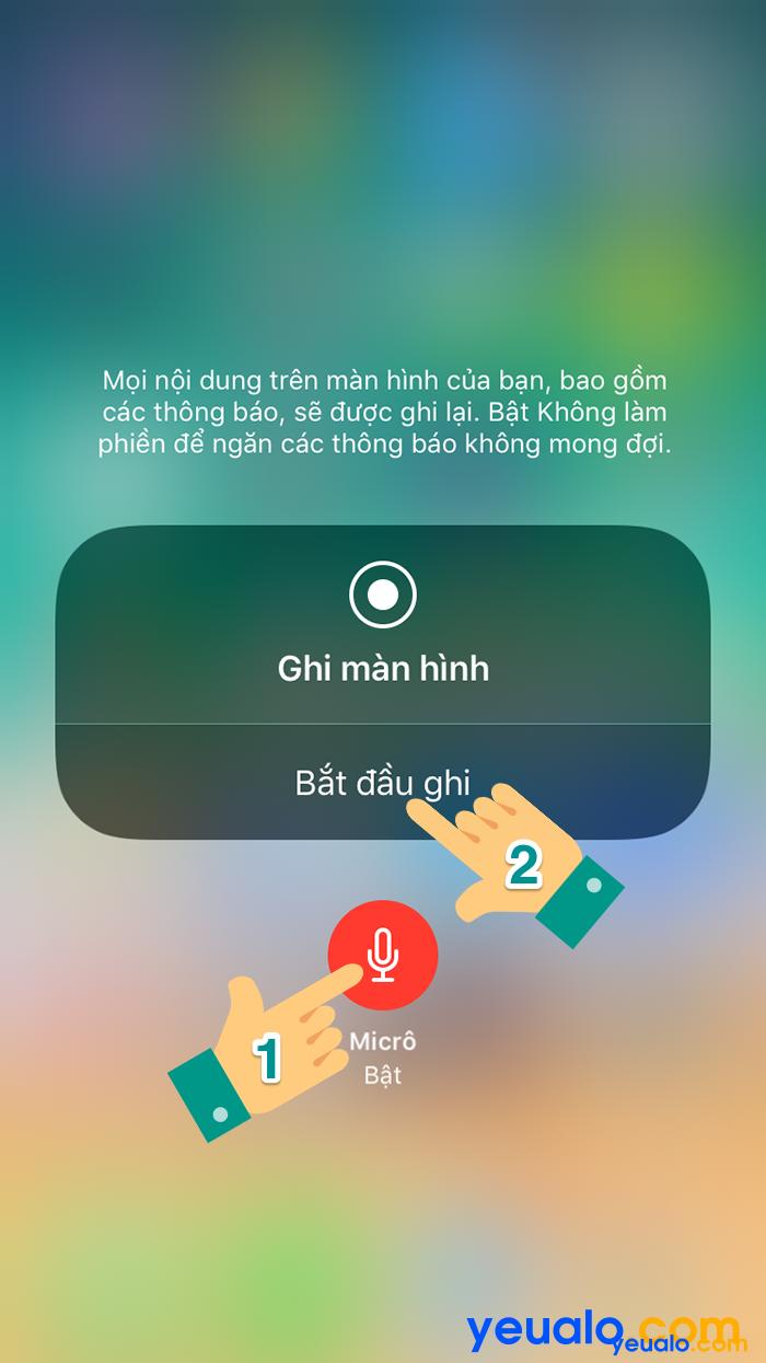 Cách quay video màn hình iOS 11 2