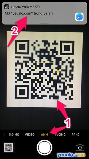 Cách quét mã QR trên iPhone 2