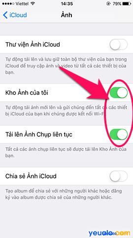 Cách sao lưu, khôi phục ảnh trên iPhone bằng iCloud 5