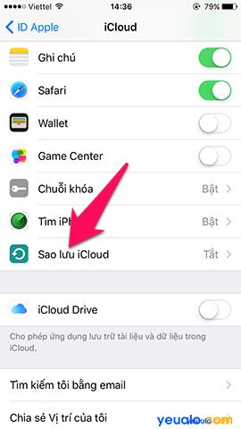 Cách sao lưu, khôi phục ảnh trên iPhone bằng iCloud 6
