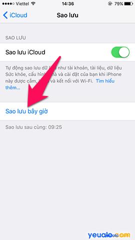 Cách sao lưu, khôi phục ảnh trên iPhone bằng iCloud 7