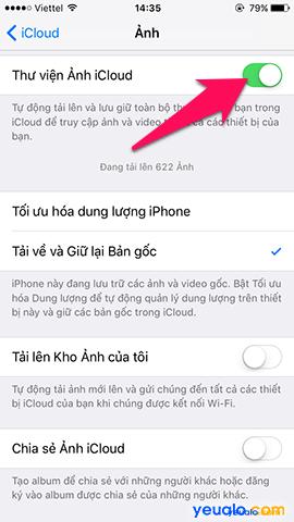 Cách sao lưu, khôi phục ảnh trên iPhone bằng iCloud 8