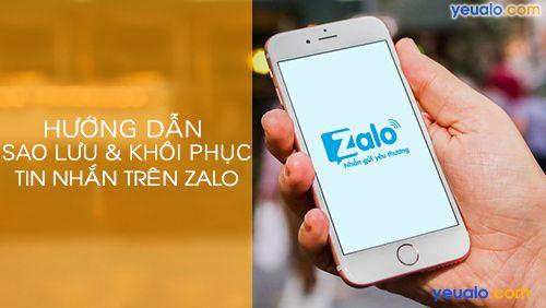 Cách lấy lại tin nhắn đã xóa trên Zalo