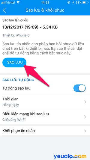 Cách sao lưu khôi phục tin nhắn Zalo trên iPhone 4