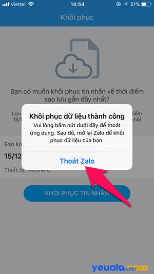 Cách sao lưu khôi phục tin nhắn Zalo trên iPhone 8