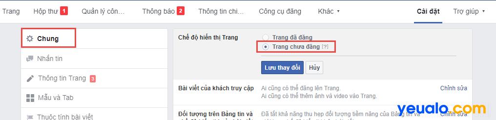 Cách sửa lỗi Fanpage Facebook bị ẩn không xem được