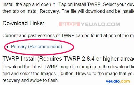Cách cài đặt TWRP Recovery cho điện thoại Android không cần máy tính 2