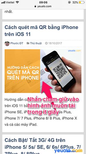 Cách tải ảnh trên Google Web về iPhone 2