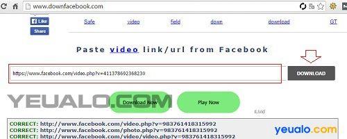 Cách tải video trên Facebook về máy tính 3