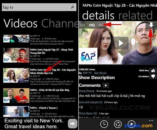 Cách tải video trên youtube về điện thoại Windows Phone bằng ứng dụng Tube Pro 2