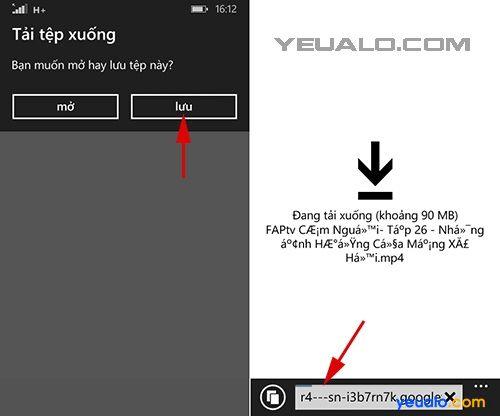Cách tải video trên Youtube về điện thoại Windows Phone 3