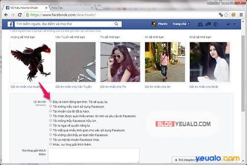 Hướng dẫn cách khóa tài khoản Facebook tạm thời 1