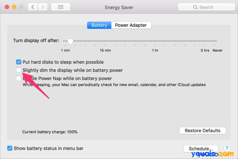 Cách chỉnh độ sáng màn hình Macbook 5