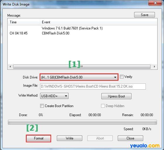 Cách tạo USB Hiren Boot 12