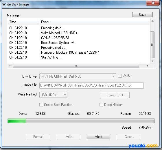 Cách tạo USB Hiren Boot 19