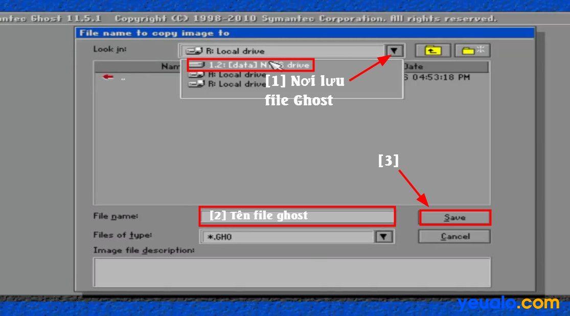 Cách tạo file Ghost 13