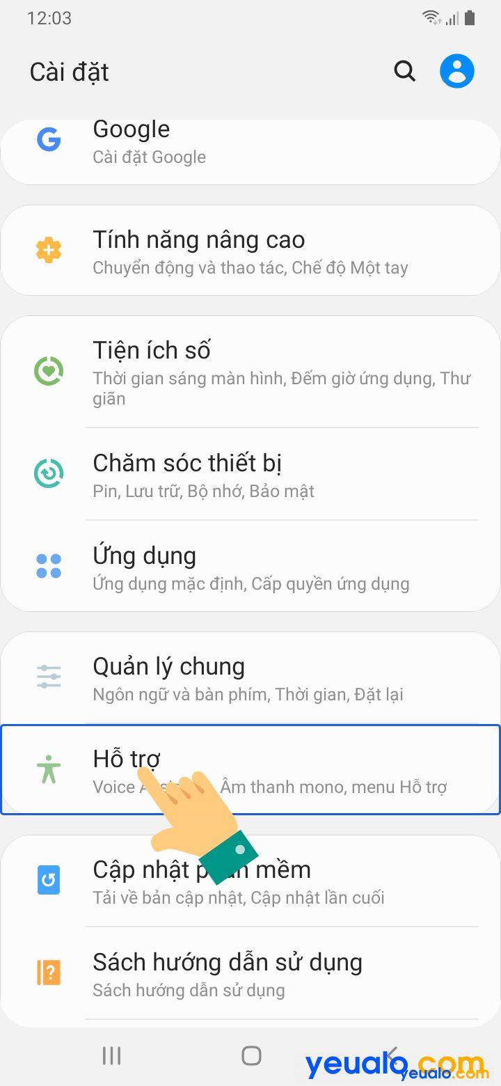 Cách tắt TalkBack trên Samsung 2
