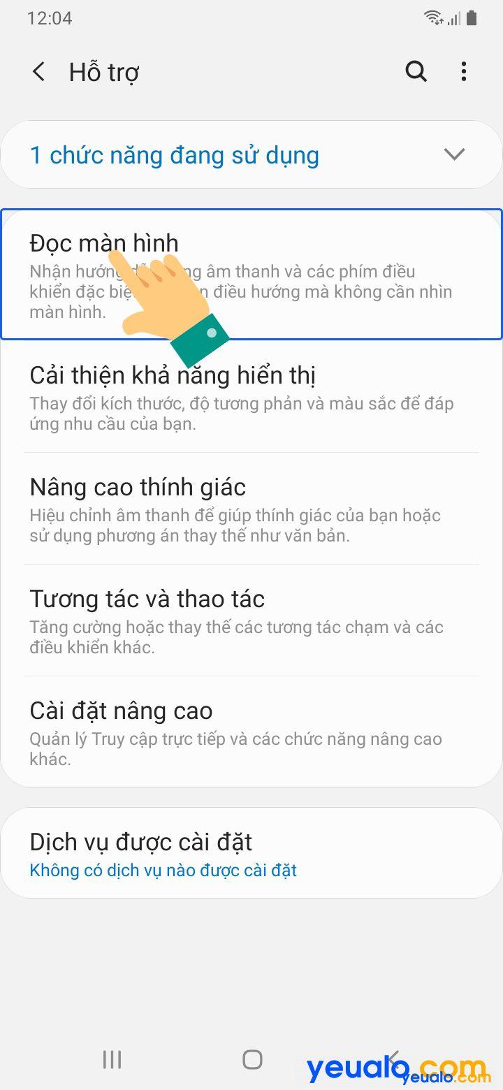 Cách tắt TalkBack trên Samsung 3