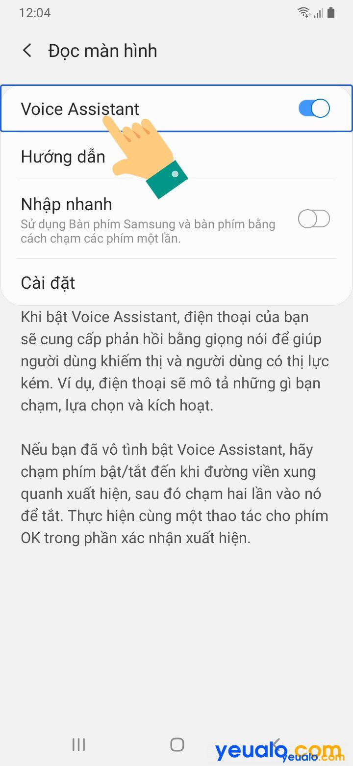 Cách tắt TalkBack trên Samsung 4
