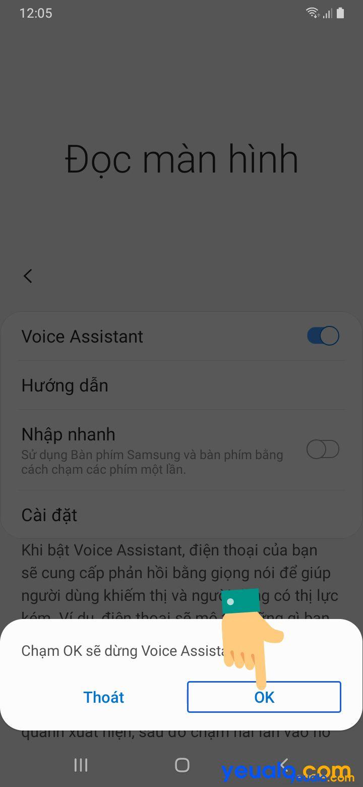 Cách tắt TalkBack trên Samsung 5