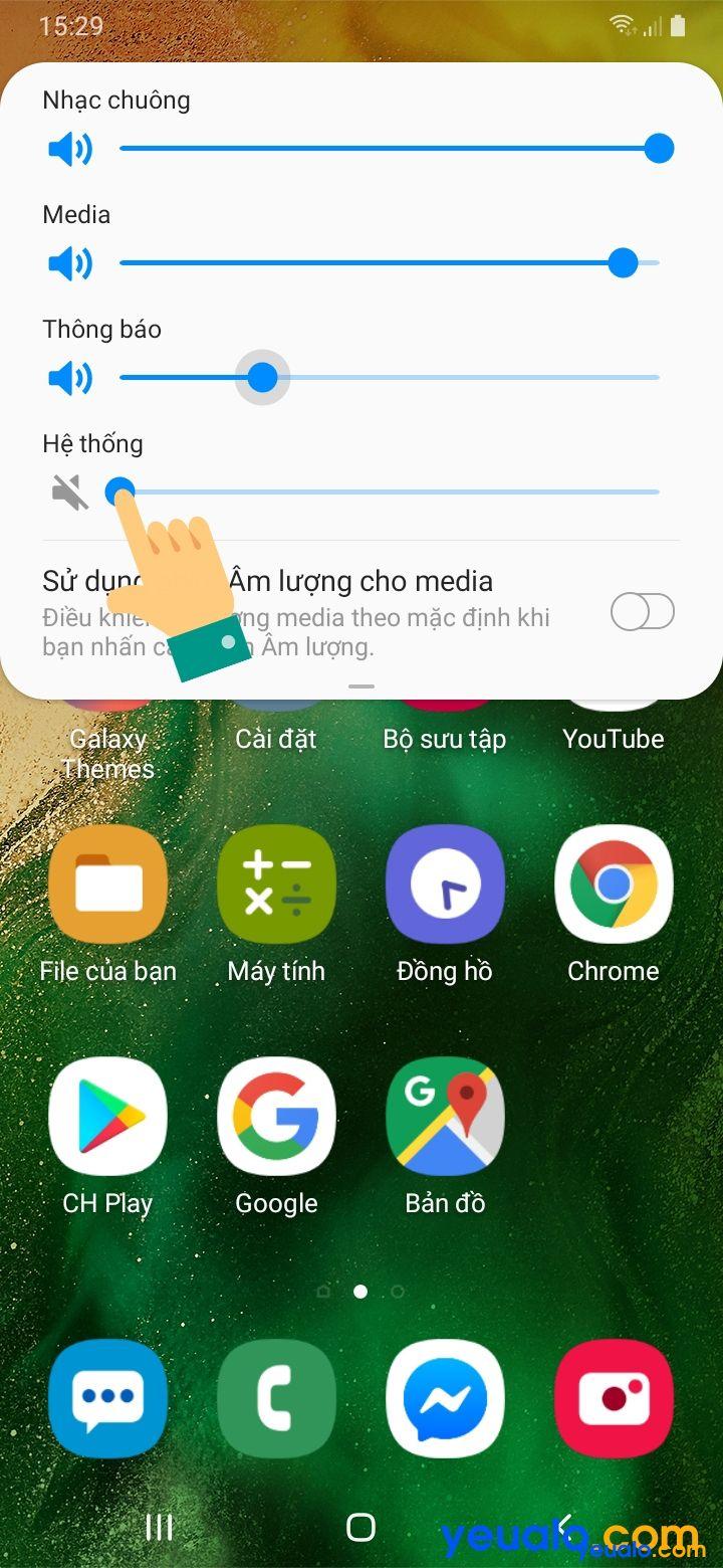 Cách tắt âm chụp ảnh Samsung 2