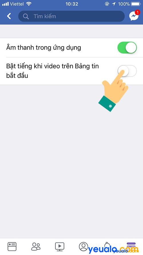 Cách Tắt Bật âm thanh video tự phát trên Facebook 3