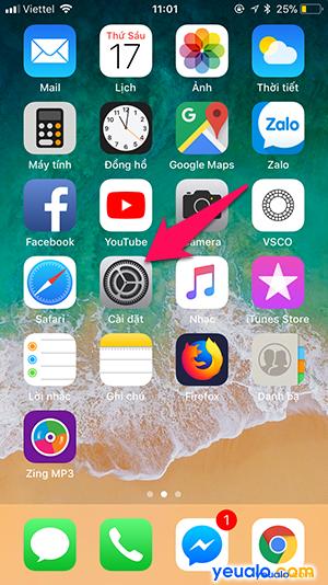 Cách Tắt Bật chức năng đọc tên người gọi đến trên iPhone 1