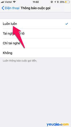 Cách Tắt Bật chức năng đọc tên người gọi đến trên iPhone 4