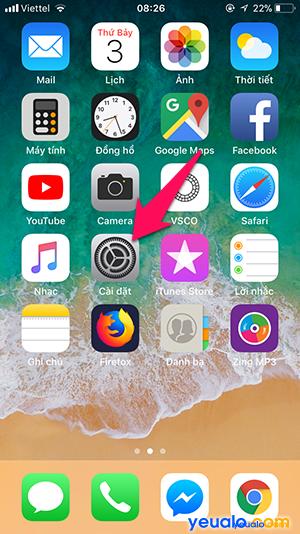 Cách tắt bật định vị iPhone 1