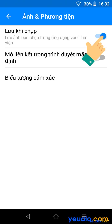 Cách tắt/ bật tự lưu ảnh trên Messenger 4