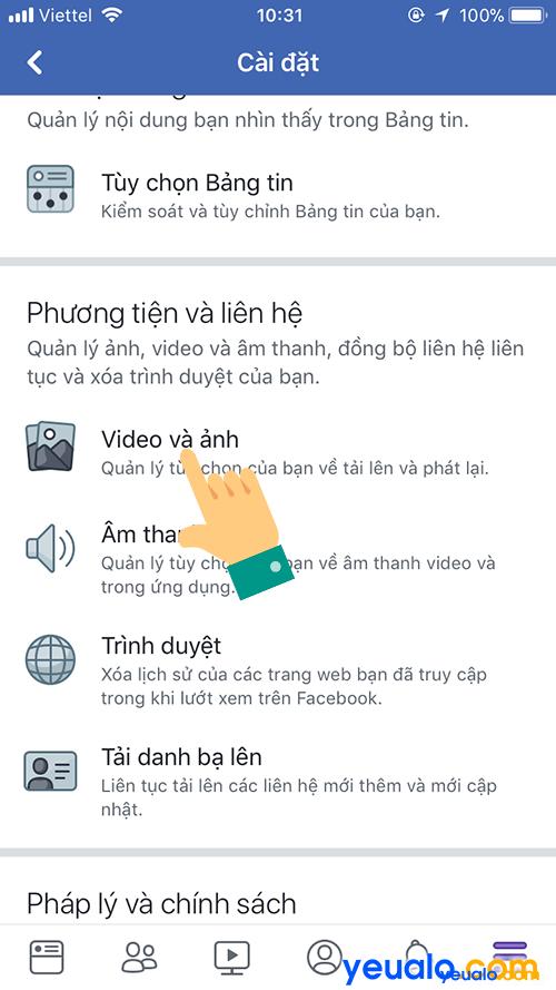 Cách Tắt Bật động tự phát video trên Facebook 2