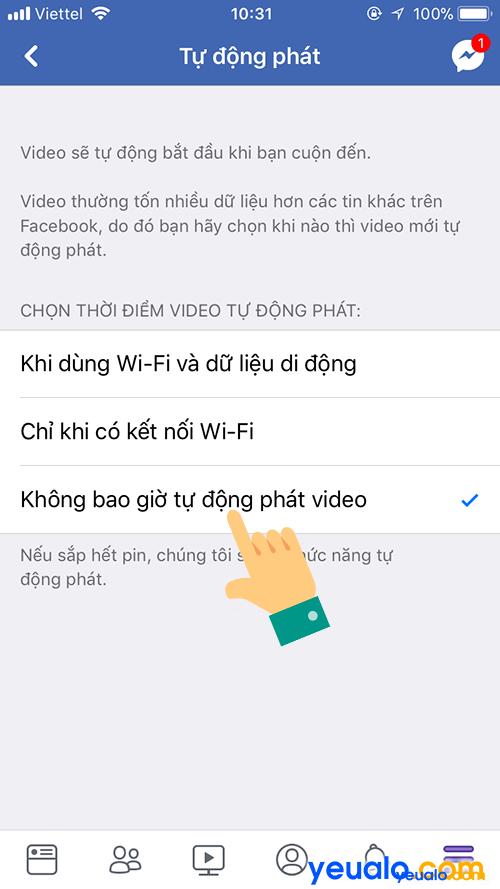 Cách Tắt Bật động tự phát video Facebook trên điện thoại 4
