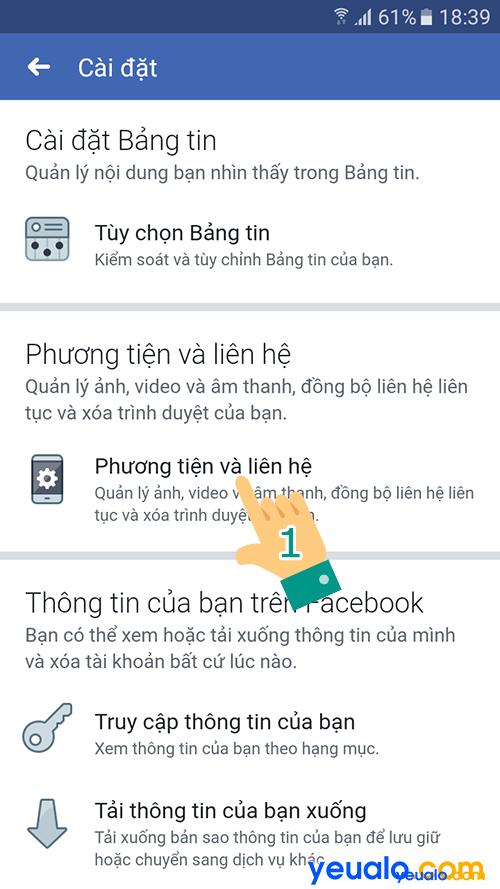Tắt Bật động tự phát video Facebook Android 6