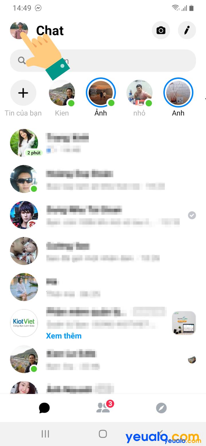 Cách tắt đèn Facebook Messenger trên điện thoại 1